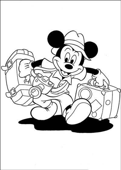 Những tranh tô màu chuột Mickey dễ thương cho bé tập tô (14)