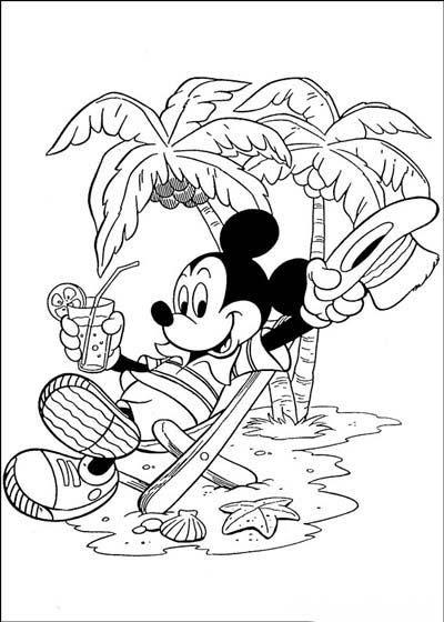 Những tranh tô màu chuột Mickey dễ thương cho bé tập tô (8)