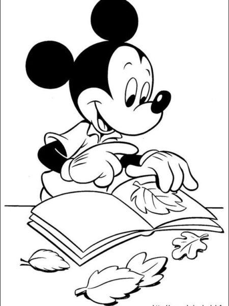 Những tranh tô màu chuột Mickey dễ thương cho bé tập tô (9)
