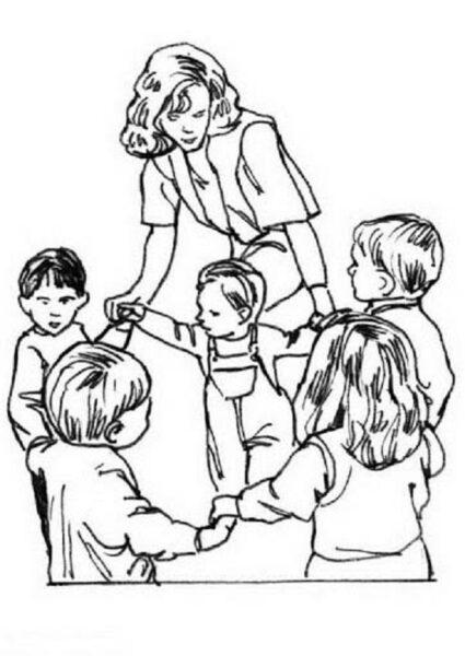 Những tranh tô màu cô giáo và học sinh đẹp nhất cho bé tập tô (6)