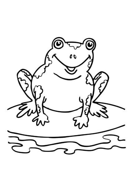 Tổng hợp các bức tranh tô màu con ếch đẹp nhất c