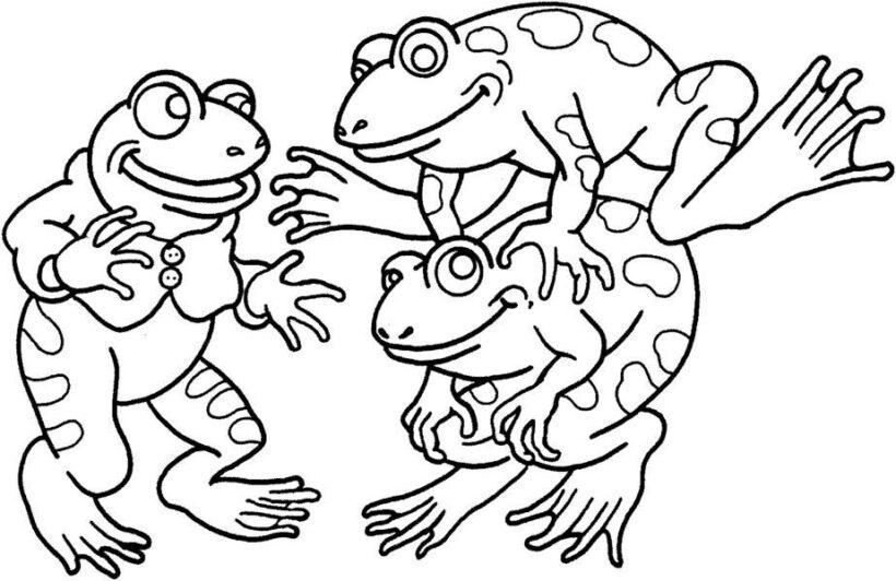 Những tranh tô màu con ếch cho bé tập tô (7)