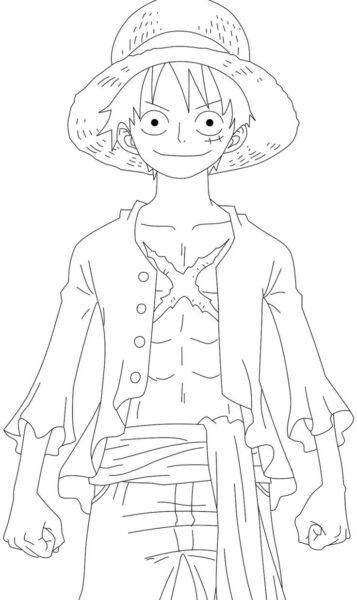 Tranh to mau Luffy mu rom cua One Piece