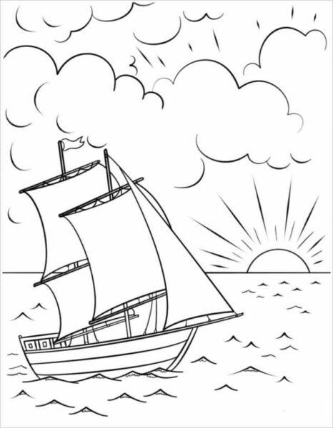 Những tranh tô màu phong cảnh biển đẹp nhất cho bé tập tô (6)