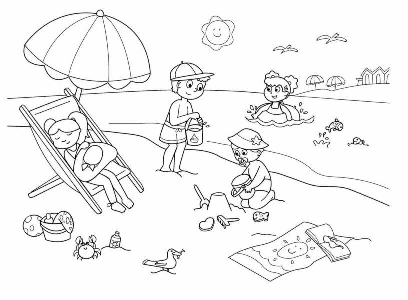 Những tranh tô màu phong cảnh biển đẹp nhất cho bé tập tô (7)