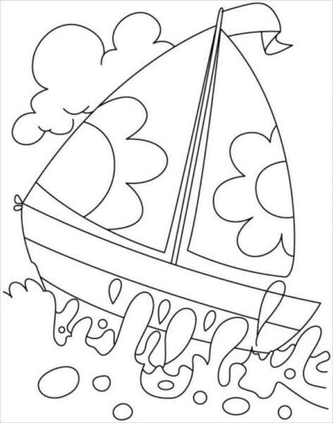 Những tranh tô màu phong cảnh biển đẹp nhất cho bé tập tô (8)