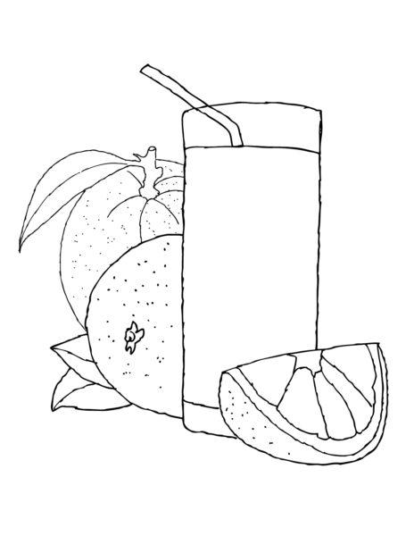 Những tranh tô màu quả cam cho bé tập tô (5)
