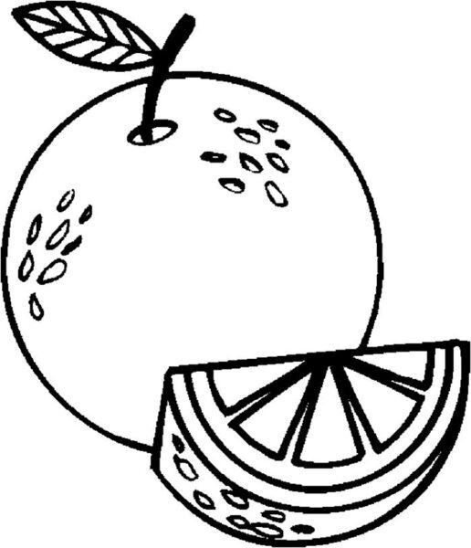 Những tranh tô màu quả cam cho bé tập tô (6)
