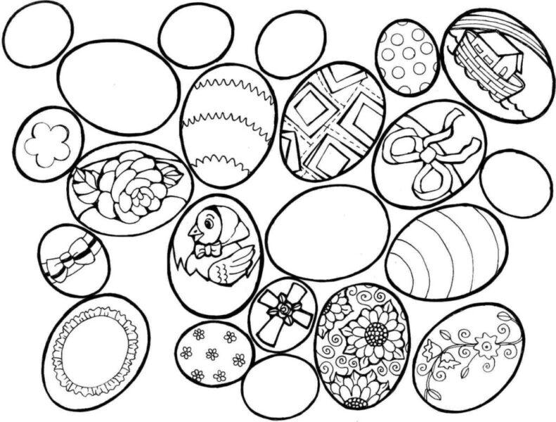 Những tranh tô màu quả trứng đơn giản cho bé tập tô (11)