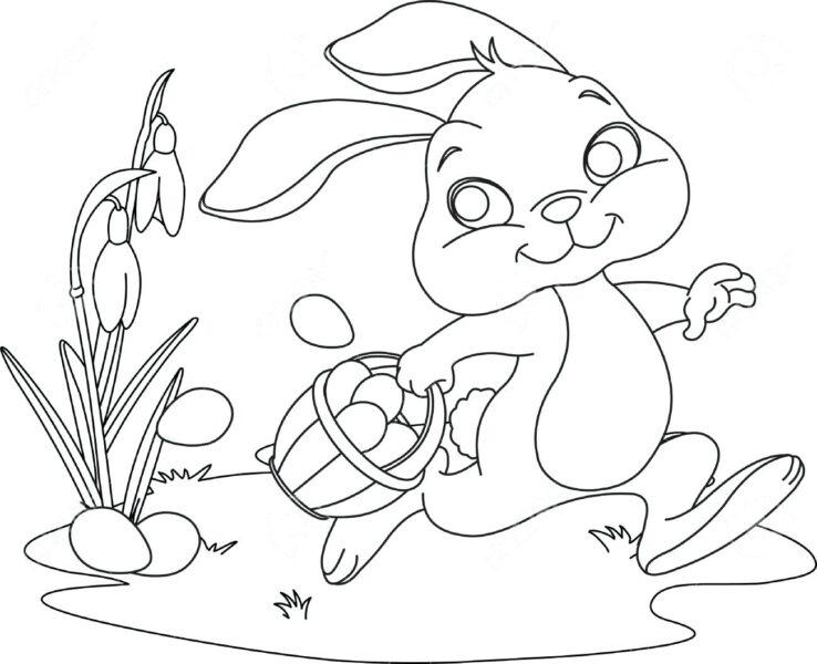 Những tranh tô màu quả trứng đơn giản cho bé tập tô (6)
