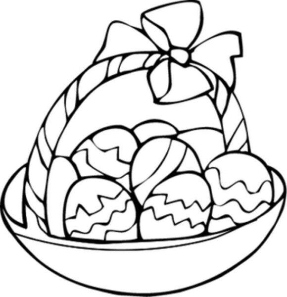 Những tranh tô màu quả trứng đơn giản cho bé tập tô (9)