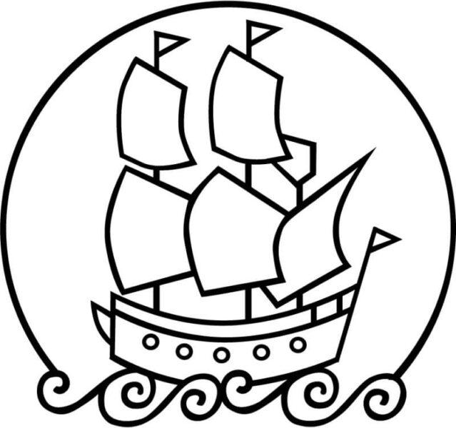 Những tranh tô màu thuyền buồm đẹp nhất cho bé tập tô (2)