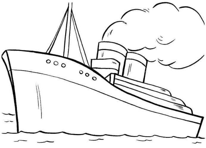 Những tranh tô màu thuyền buồm đẹp nhất cho bé tập tô (6)