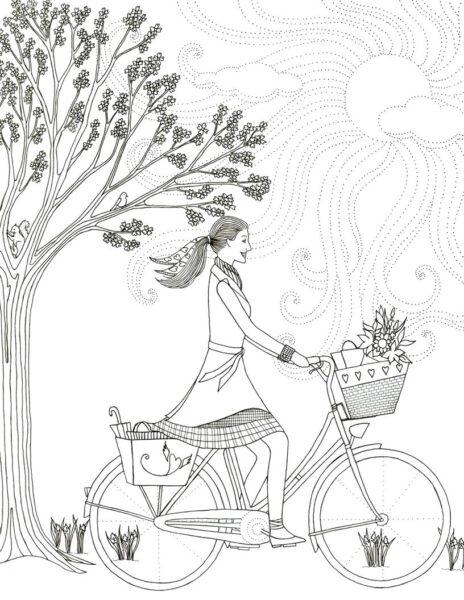 Những tranh tô màu xe đạp cho bé tập tô (10)