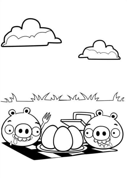 Tranh tô màu Angry Birds cho bé tập tô (29)