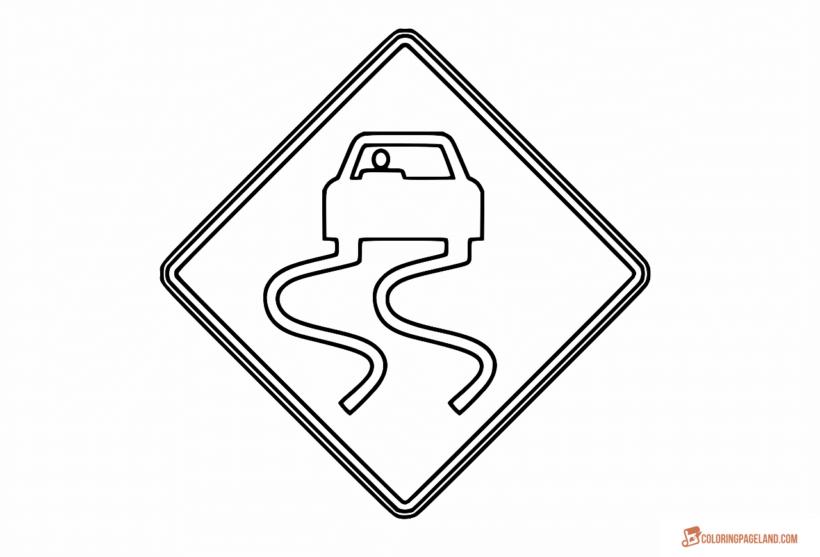 Tranh tô màu biển báo giao thông cho bé tập tô (14)