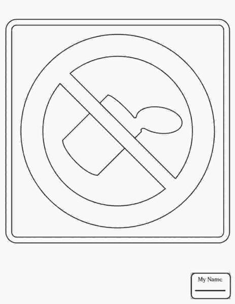 Tranh tô màu biển báo giao thông cho bé tập tô (15)