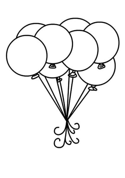 Tranh tô màu bóng bay đẹp nhất cho bé tập tô (3)
