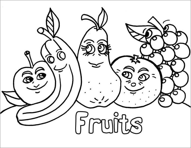 Tranh tô màu các loại quả