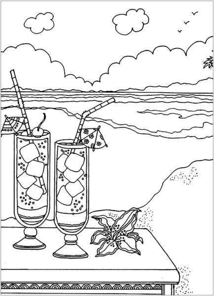 Tranh tô màu cảnh biển đẹp nhất cho bé tập tô (41)