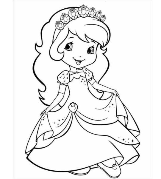 Tranh tô màu cho bé 5 tuổi công chúa
