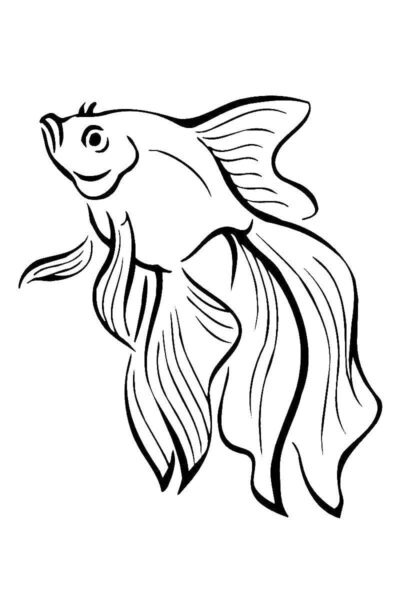 Tranh tô màu chú cá vàng đẹp nhất cho bé tập tô (33)