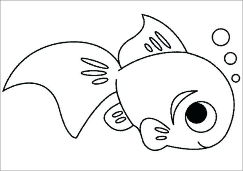 Tranh tô màu chú cá vàng đẹp nhất cho bé tập tô (34)