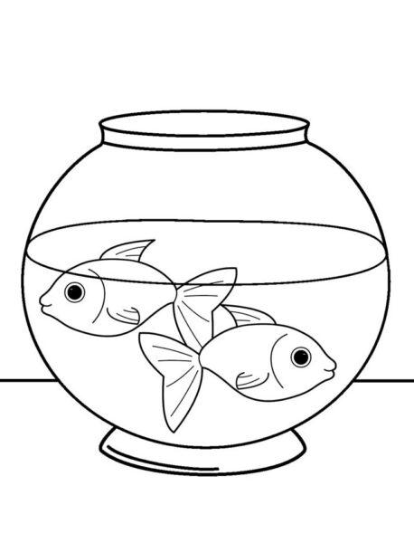 Tranh tô màu chú cá vàng đẹp nhất cho bé tập tô (35)