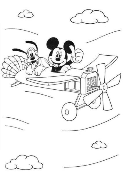 Tranh tô màu chuột Mickey dễ thương cho bé tập tô (38)