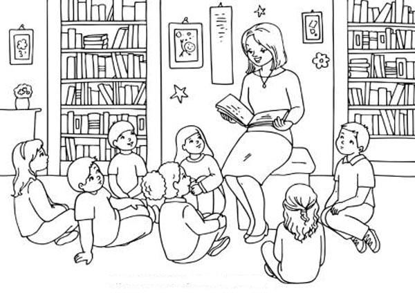 Tranh tô màu cô giáo và học sinh đẹp nhất cho bé tập tô (30)
