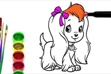 Tranh tô màu con chó đẹp nhất