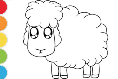 Tranh tô màu con cừu đẹp nhất