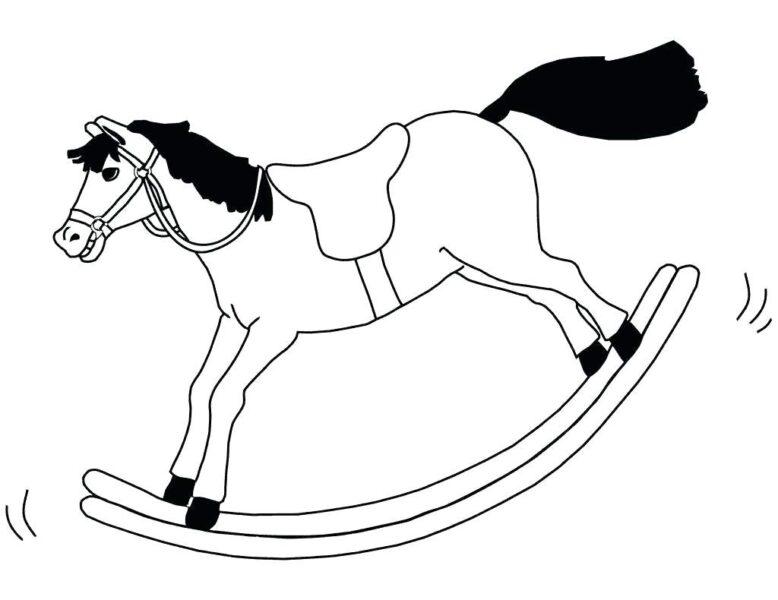 Tranh tô màu con ngựa đẹp nhất cho bé tập tô (27)