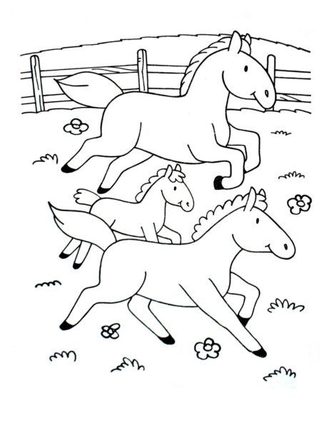 Tranh tô màu con ngựa đẹp nhất cho bé tập tô (30)