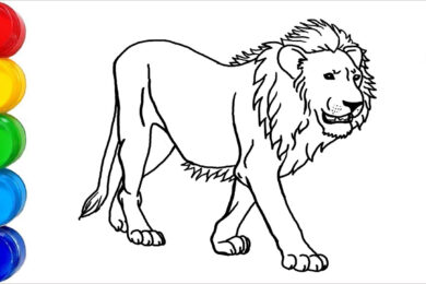 Tranh tô màu con sư tử đẹp nhất