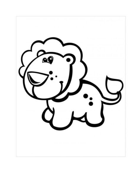 Tranh tô màu con sư tử đẹp nhất cho bé tập tô (1)