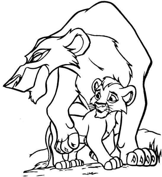 Tranh tô màu con sư tử đẹp nhất cho bé tập tô (10)