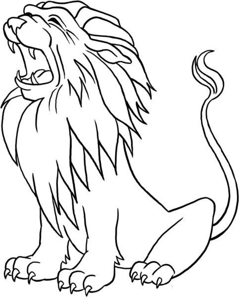 Tranh tô màu con sư tử đẹp nhất cho bé tập tô (16)