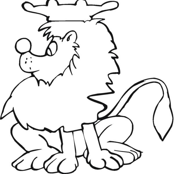 Tranh tô màu con sư tử đẹp nhất cho bé tập tô (2)