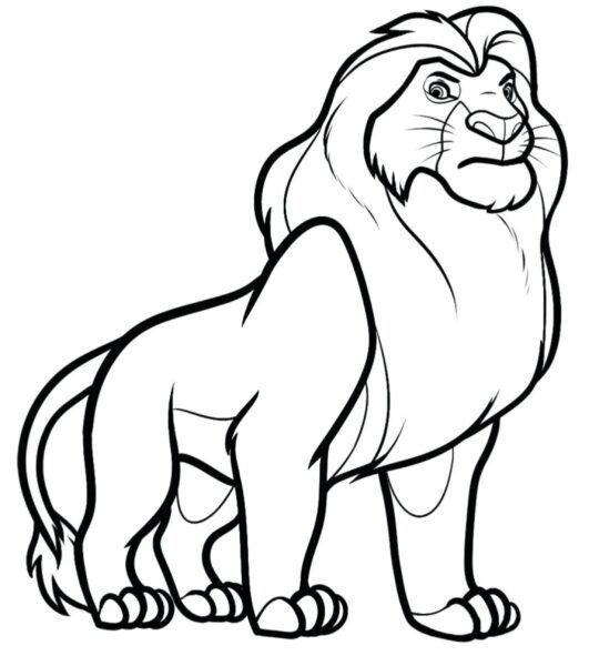 Tranh tô màu con sư tử đẹp nhất cho bé tập tô (21)