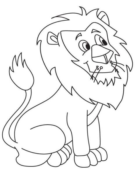 Tranh tô màu con sư tử đẹp nhất cho bé tập tô (24)