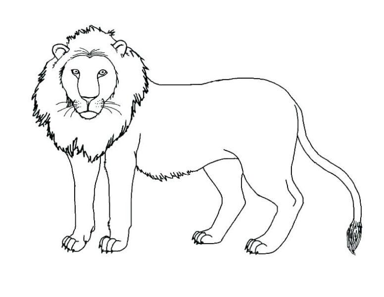 Tranh tô màu con sư tử đẹp nhất cho bé tập tô (25)