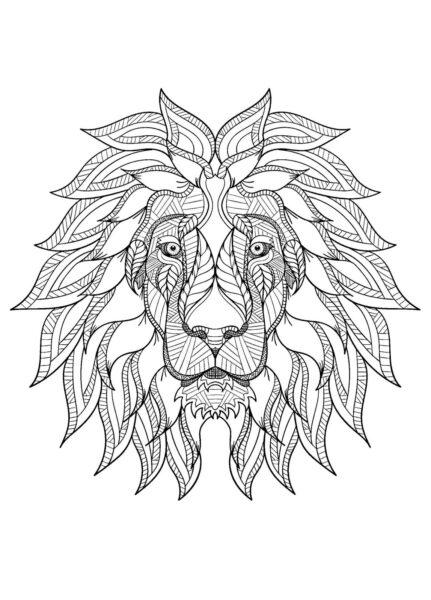 Tranh tô màu con sư tử đẹp nhất cho bé tập tô (27)