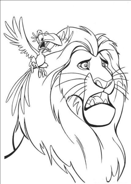 Tranh tô màu con sư tử đẹp nhất cho bé tập tô (28)