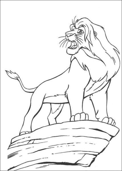 Tranh tô màu con sư tử đẹp nhất cho bé tập tô (29)