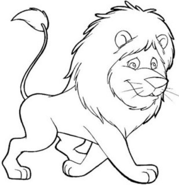 Tranh tô màu con sư tử đẹp nhất cho bé tập tô (3)