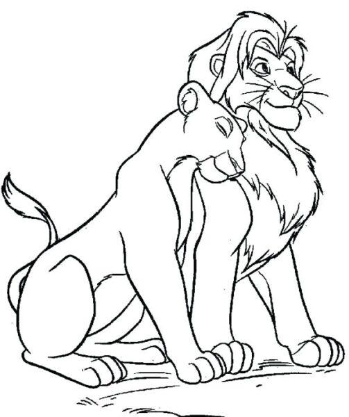 Tranh tô màu con sư tử đẹp nhất cho bé tập tô (30)