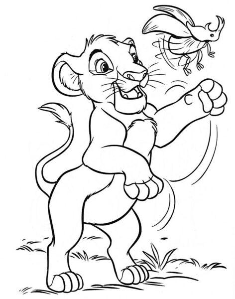 Tranh tô màu con sư tử đẹp nhất cho bé tập tô (4)