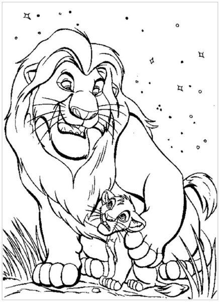 Tranh tô màu con sư tử đẹp nhất cho bé tập tô (5)