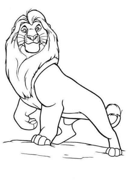 Tranh tô màu con sư tử đẹp nhất cho bé tập tô (6)